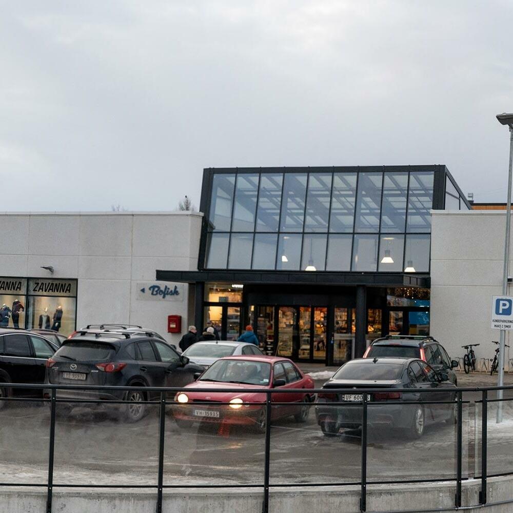 Fasade av Hunstadsenteret kjøpesenter