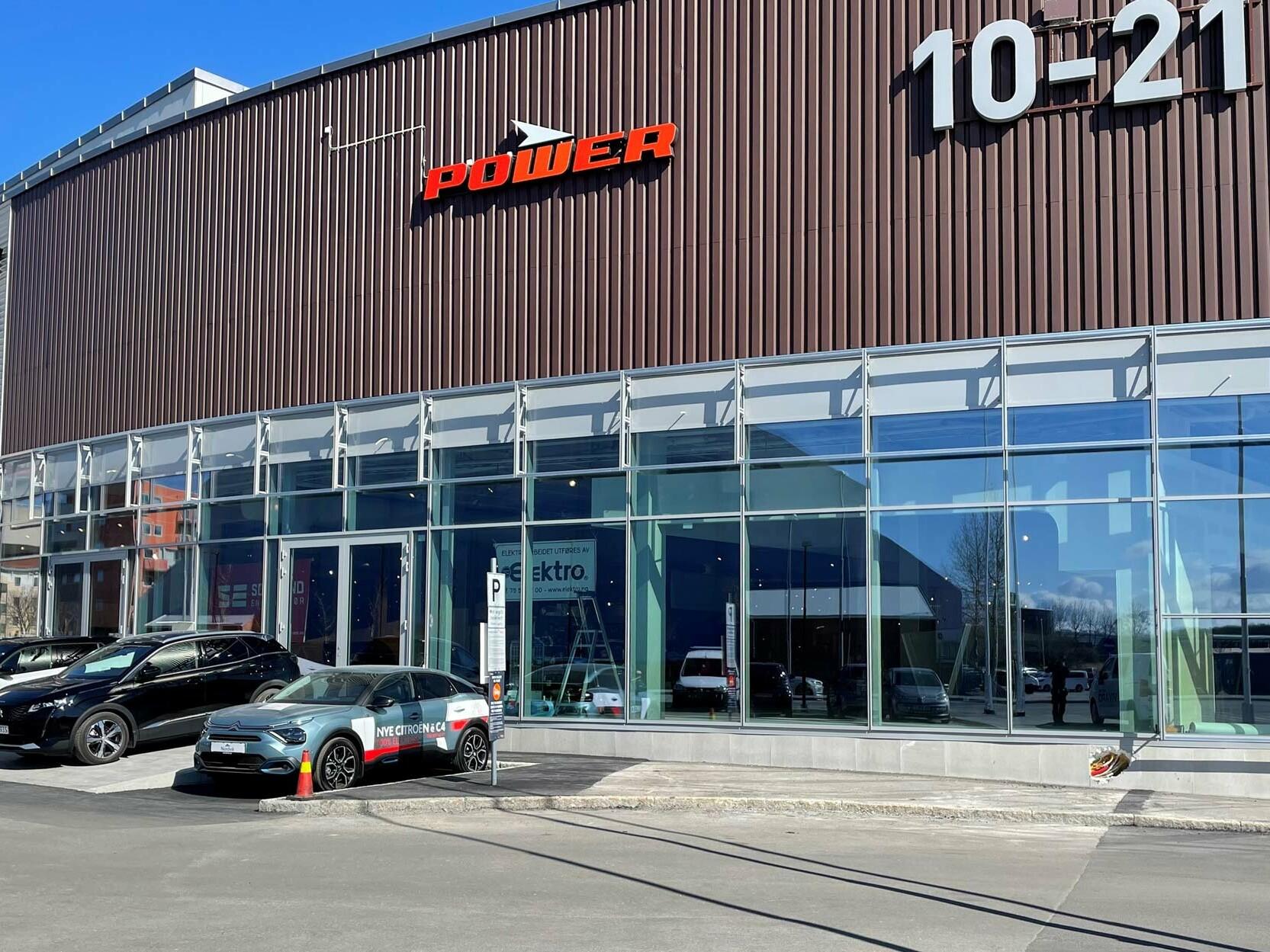 Utsiden av Nordviks nye lokaler i Bodø Storsenter.